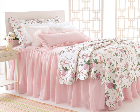 Pine Cone Hill, Inc. - Savannah Linen Gauze Blush Bedspread in Queen - SABLBCQ
