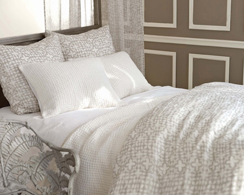 Pine Cone Hill, Inc. - Veena Grey Duvet Cover in Full/Queen - VEGDCQ