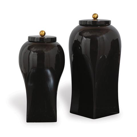 Port 68 - Boulevard Black Large Jar - ACAS-219-06