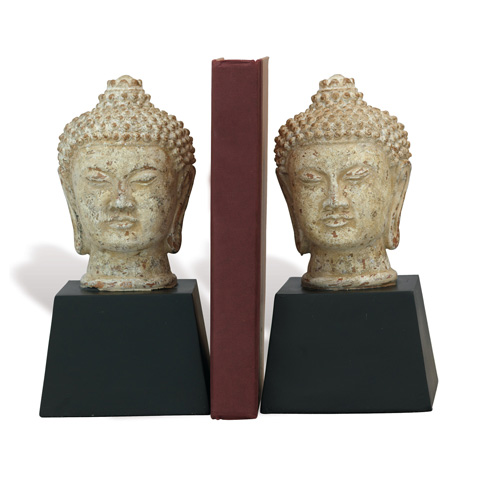Port 68 - Set of Two Zen Buddha Bookends - ACFM-207-01