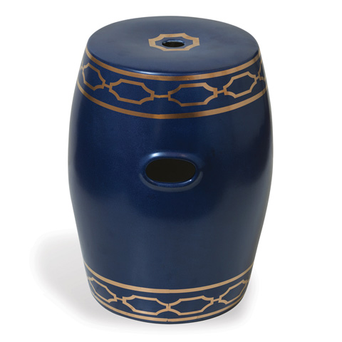 Port 68 - Pavillion Indigo Garden Stool - ACFS-229-04