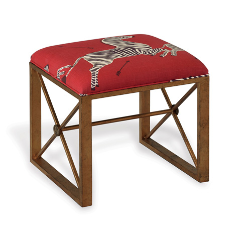 Port 68 - Medallion Gold Le Zebre Right Facing Single Bench - AFBS-222-11