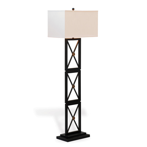 Port 68 - Medallion Black Floor Lamp - LPBS-222-02