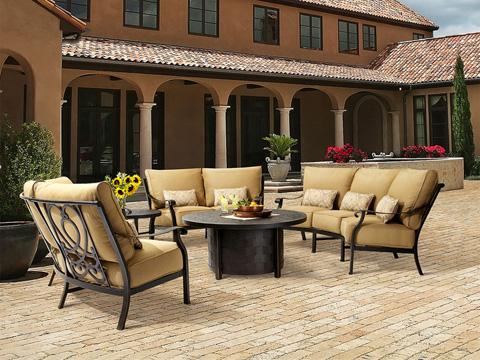 Castelle - Three Cushion Crescent Sofa - 3844T