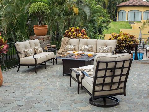 Castelle - Monterey Cushion Ottoman - 5813T