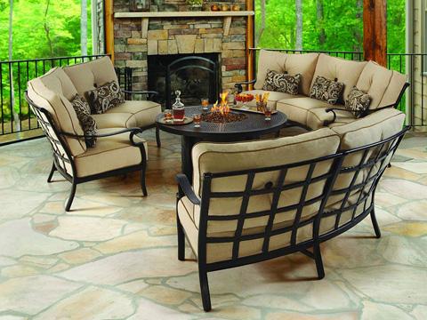 Castelle - Monterey Cushion Crescent Sofa - 5844T