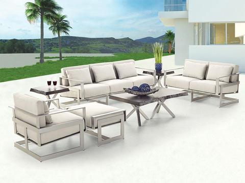 Castelle - Eclipse Cushioned Sofa - 1714R
