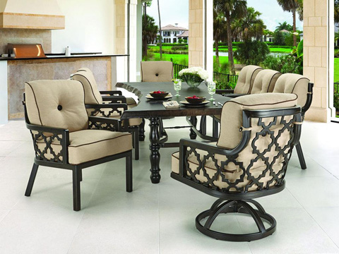 Castelle - Belle Epoque Cushioned Lounge Dining Chair - 2906T