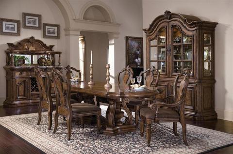 Pulaski - San Mateo Carved Back Arm Chair - 662271