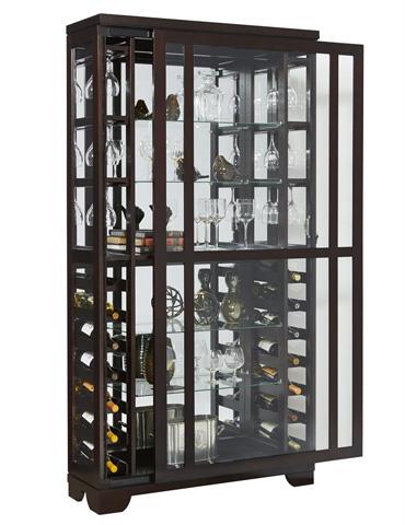 Pulaski - Sliding Front Wine Curio - 21531