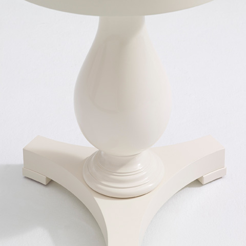 Ralph Lauren by EJ Victor - Cream One Fifth Pedestal End Table - 4603-42