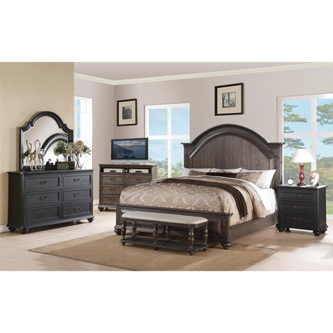Riverside Furniture - Queen Arch Panel Bed - 15870