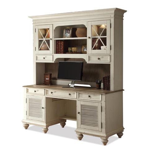 Riverside Furniture - Shutter Door Credenza with Hutch - 32533