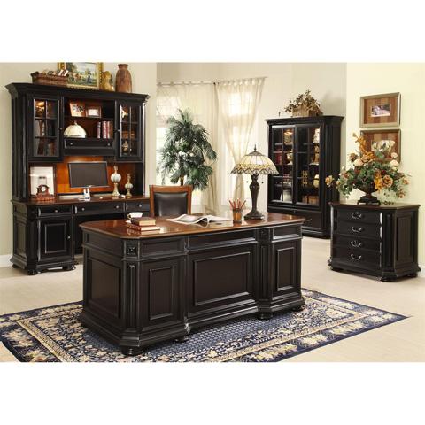 Riverside Furniture - Computer Credenza with Hutch - 44726