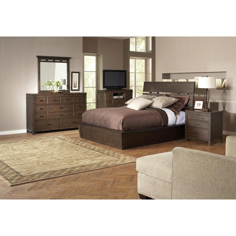 Riverside Furniture - Queen Slat Panel Bed - 84574