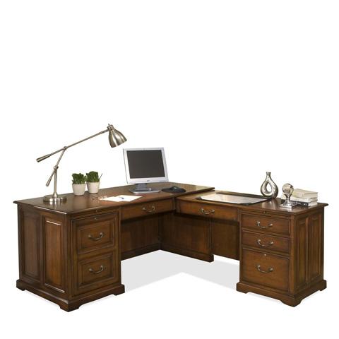 Riverside Furniture - L-Shaped Computer Workstation - 4930
