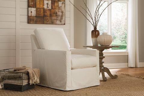 Rowe Furniture - Norah Slipcover Swivel Chair - N695-016