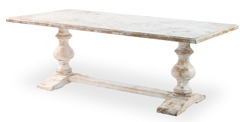Sarreid Ltd. - Disrupted White Lionisio Trestle Table - R085-16