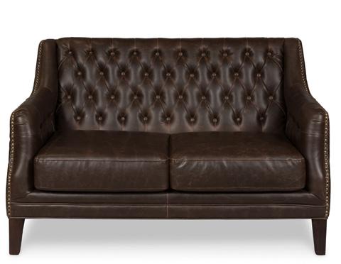 Sarreid Ltd. - Brooks Leather Tufted Two Seat Sofa - 28927