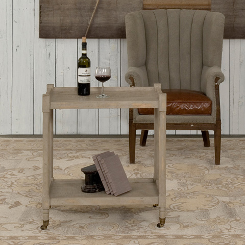 Sarreid Ltd. - Side Table with Casters - 29145