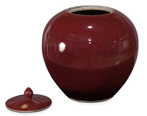 Sarreid Ltd. - Red Ceramic Vase - 29868