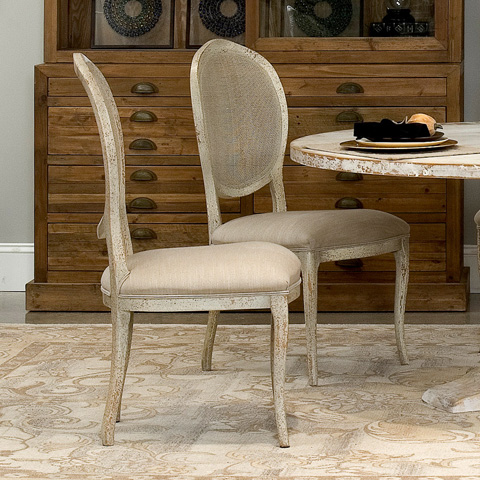 Sarreid Ltd. - Abrella Oval Back Chair - R013-18F10