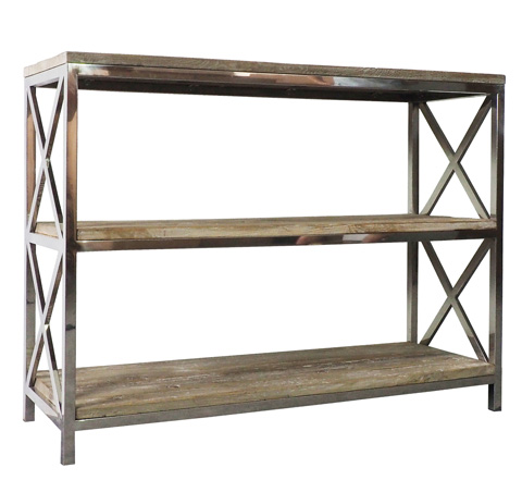 Sarreid Ltd. - Old Elm New Steel Bookshelf - 29233