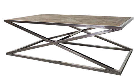 Sarreid Ltd. - Parquet Stainless Coffee Table - 29227