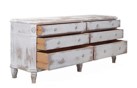 Sarreid Ltd. - Double Swedish Chest Of Drawers - 30330