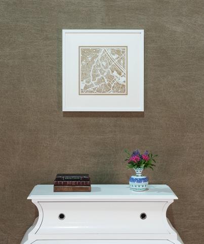 Sarreid Ltd. - Large Vienna Framed Map - 30383