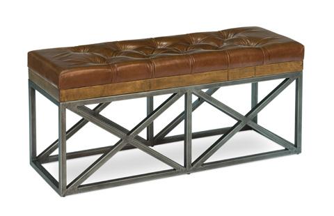 Sarreid Ltd. - Leather Cushion Double Bench - 30396