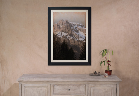Sarreid Ltd. - Mountain Giclee Print - 30855