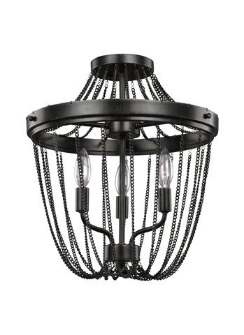 Sea Gull Lighting - Three Light Semi-Flush Convertible Pendant - 7710103-846