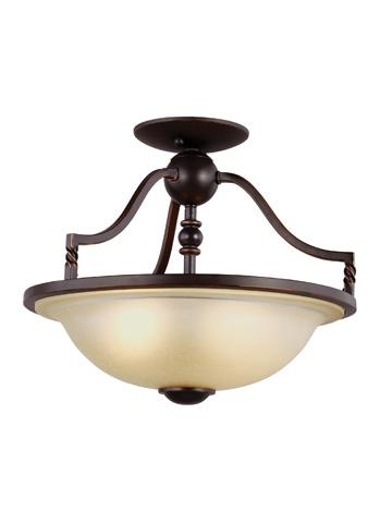 Sea Gull Lighting - Two Light Semi-Flush Convertible Pendant - 7710602-191