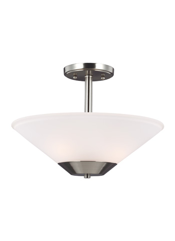 Sea Gull Lighting - Two Light Semi-Flush Convertible Pendant - 7711202-962