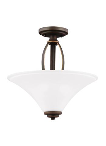 Sea Gull Lighting - Two Light Semi-Flush Convertible Pendant - 7713202BLE-715