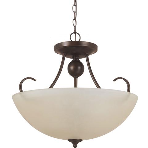 Sea Gull Lighting - Three Light Semi-Flush Convertible Pendant - 77316-710