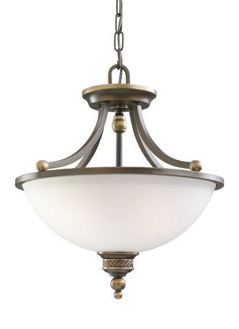 Sea Gull Lighting - Two Light Semi-Flush Convertible Pendant - 77350-708