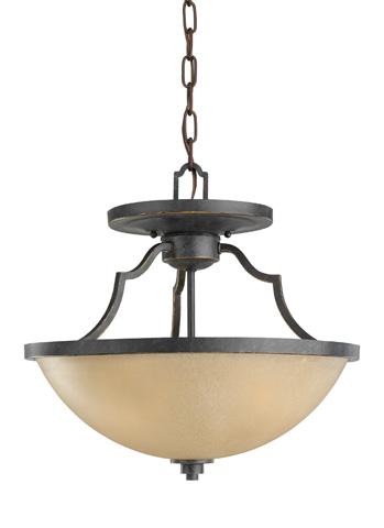 Sea Gull Lighting - Three Light Semi-Flush Convertible Pendant - 77520-845