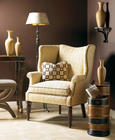Image of Upholstered Wing Back Chair
