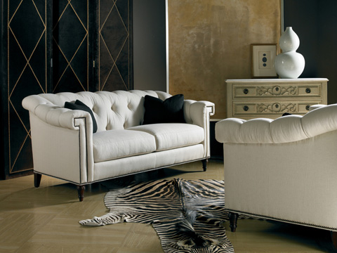Image of Two Cushion Hand-Tufted Sofa