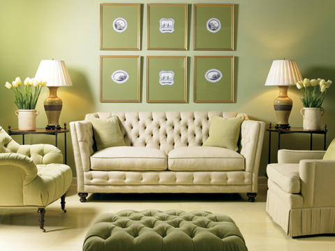 Image of Tufted Two Cushion Sofa