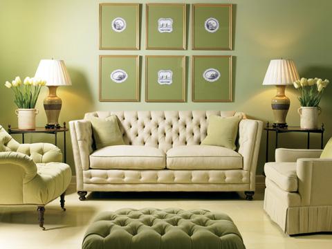 Image of Tufted Two Cushion Sofa
