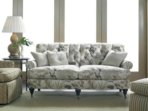 Sherrill - Tufted Two Cushion Sofa with Casters - 3251