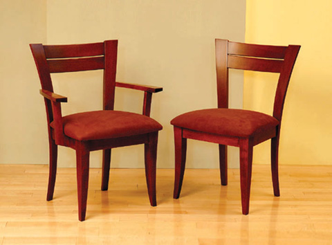Saloom Furniture - Arm Chair and Side Chair - 39AU/39SU