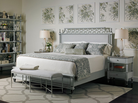 Stanley Furniture - Botany Queen Bed - Lamb's Ear - 340-53-40