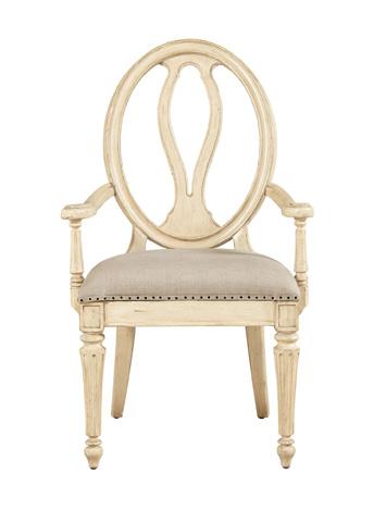 Stanley - Portfolio - Arm Chair in Vintage White - 007-21-70