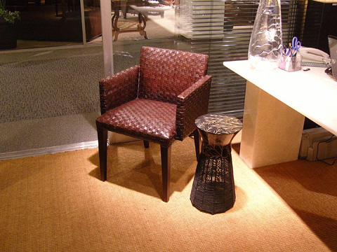 Stone International - Woven Leather Club Chair - 0493