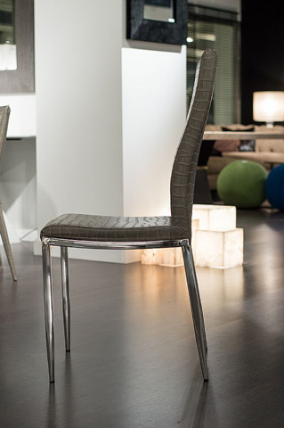 Stone International - Dining Chair with Stainless Steel Legs - 0543/S