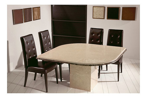 Stone International - Shaped Dining Table - 3426